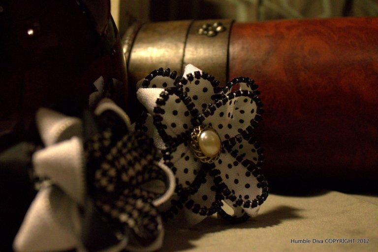 Black Polka Dot Mini Pin